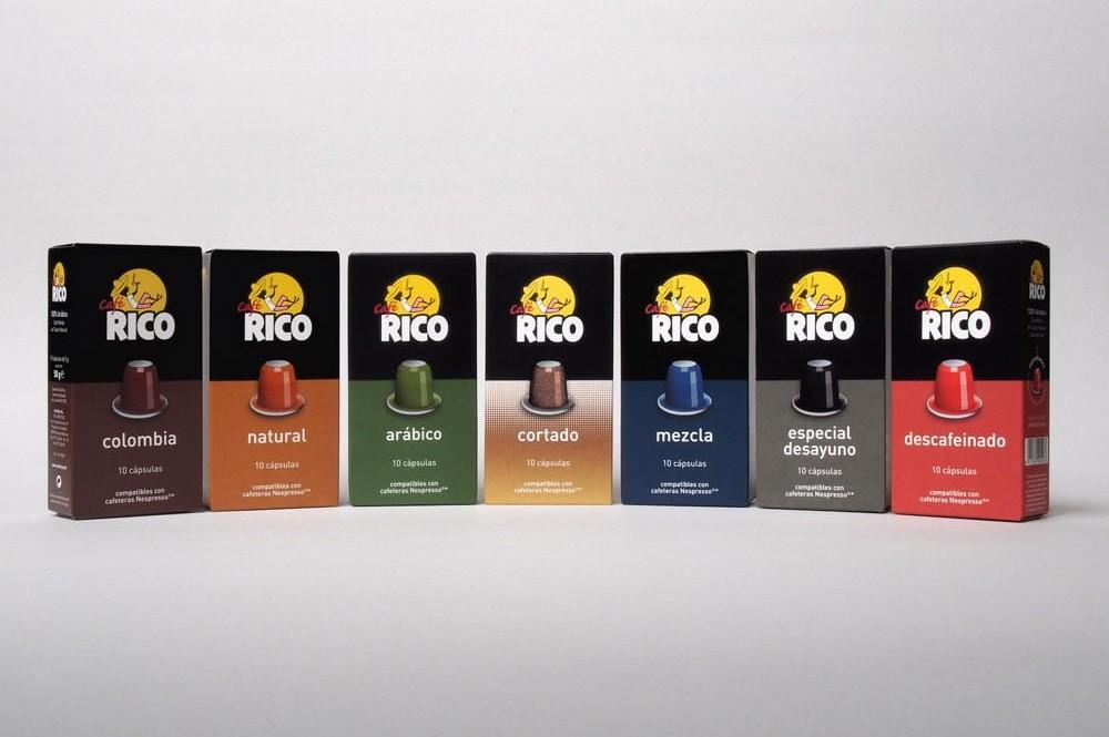 Pack cápsulas Café Rico