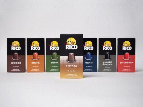 Pack cápsulas Cafe Rico